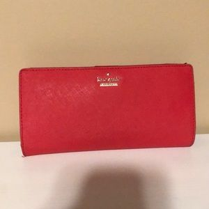 Kate spade large Stacy wallet in prickly pea pink